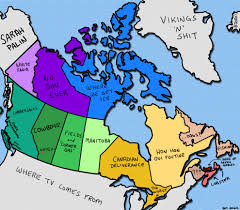 Map Canada Provinces by Here U0027s A Map Of How Canadians See Other Canadians Canada Eh