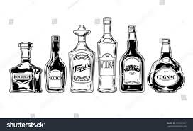 alcohol vector vector set bottles alcohol stock vector 496531687 shutterstock