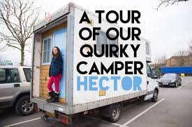 see the inside of hector our quirky campervan rental based in