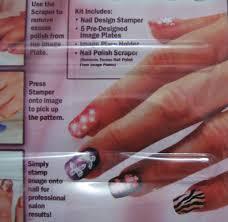 salon express nail art stamping kit anthea