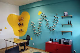 wonderful wall ideas for office bright colors and creative wall