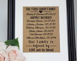 wedding quotes joining families blended family etsy
