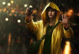 Yellow Raincoat Girl Meme - rain by omen2501 on deviantart