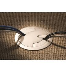 locate brass recessed floor outlets rfb4e four compartment