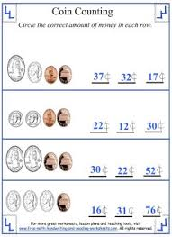 coin counting mixed coins worksheets