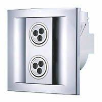 shower extractor fan with selv light kit chrome grill std or