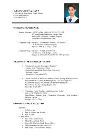 Resume Format Template Microsoft Word Example Of Work Resume Resume Examples For Food Service Sample 15