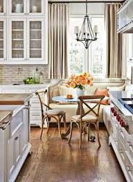 kitchen with banquette seating and chandelier ideas of banquette