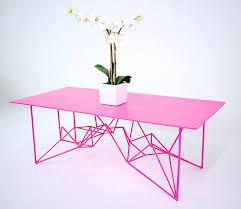 Steel Coffee Table Neon Pink Coffee Table The Yoshi Steel