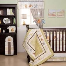 details about classic pooh crib sheet nip light green best friends