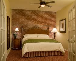 Traditional Room Design Bedroom Appealing Interior Wall Decor With Faux Brick Panels