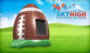 bounce house rentals houston football bounce house houston sky high party rentals