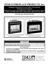 Fireplace Installation Instructions by Temco Tfc36 3 Manuals