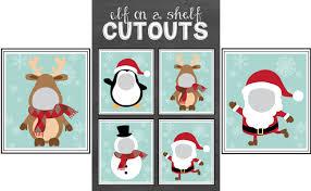 free elf shelf cutout printables pretty party