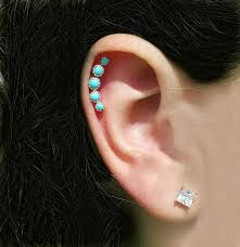 cartilage earrings turquoise cartilage earring stipp