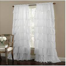 Shabby Chic Voile Curtains by Ruffle Rod Pocket White Curtain Sheer Sheercurtain Custommade