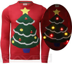 christmas tree sweater with lights mens ladies christmas jumper 3d led xmas novelty santa elf snowman