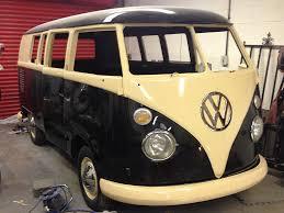 vw minivan camper vw split screen camper van u2013 black u0026 ivory waccy restorations