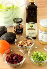 avocado and orange chopped salad with orange honey mustard