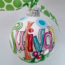 personalized ornament painted monograms ornament and