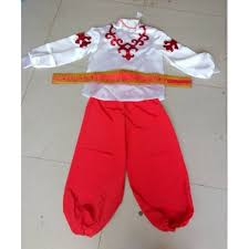 red boys european palace traditional russian costume chinese