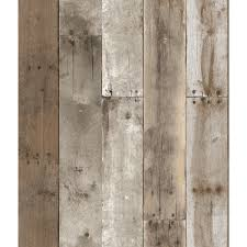 repurposed wood weathered textured self adhesive wallpaper by