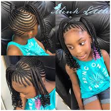 detroit black hair braid style kid braids with weave added click link in bio to bio an appointment