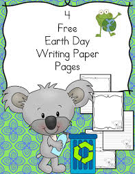 free earth day writing paper writing paper kindergarten and