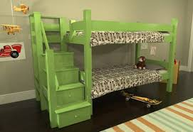 Bunk Bed Stairs With Drawers Sustainably Crafted Maine Bunk Beds Come In Many Configurations