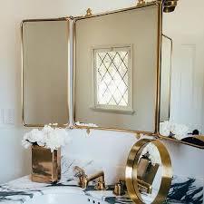 tri fold bathroom mirror brass trifold bathroom mirror design ideas tri fold bathroom