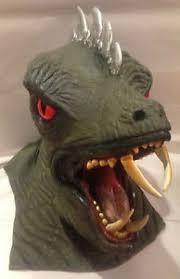 Lizard Halloween Costume Vintage Latex Rubber Lizard Dragon Godzilla Cowl Mask