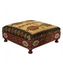 Kilim Storage Ottoman Square Wool Kilim Jute Coffee Table Ottoman Coffee Table Ottoman