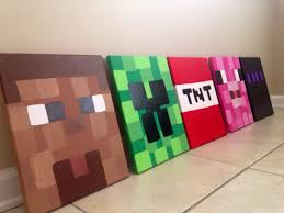my 13 would love these in his new room minecraft inspired wall