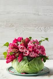 flower centerpieces diy cabbage flower centerpiece southern living