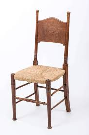 set of eight arts and crafts elm chairs by william birch birch