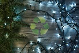 free christmas tree collection and holiday light recycling