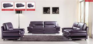 Modern Sofa And Loveseat 2757 Modern Italian Purple Leather Living Room Set