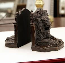 lion book ends image gallery lion bookends