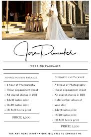 photography wedding packages wedding packages jose pimentel