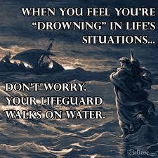 jesus walks water bible story verses u0026 meaning