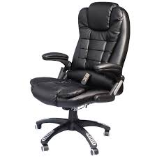 Office Chair Amazon Com Homcom Executive Ergonomic Pu Leather Heated Vibrating