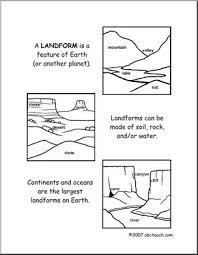 worksheets landforms elem upper elem abcteach