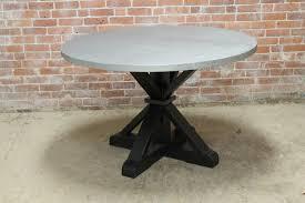 Black Pedestal Table Round Zinc Table Ecustomfinishes