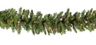lighted garland brighton fir prelit garland