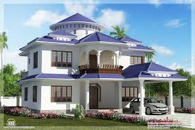 Dream Houses Beautiful Dream Home Design In  Sqfeet - Exterior home decoration