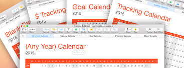 new goal and data tracking calendar template for numbers