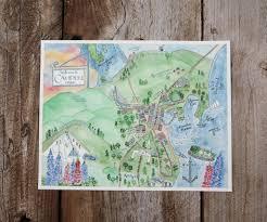 map of camden maine map of camden me el s cards