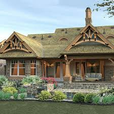 traditional craftsman homes craftsman house plan story retreat open tranquil living
