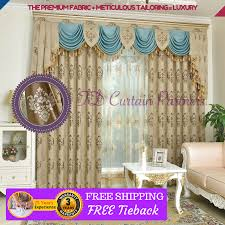 Blue Swag Curtains Blockout Beige Ivory Blue Swag Drapes Sheer Eyelet Pleats