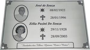 Conhecido Placas para Cemitério - Plac Color &ZK48